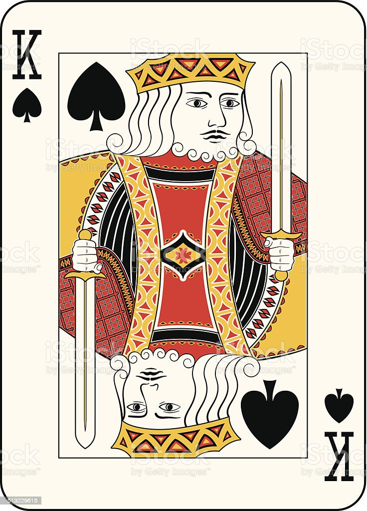 King of spades vector art illustration