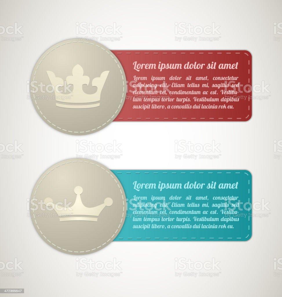 Etiquetas Fino Con Cama King Illustracion Libre de Derechos ...