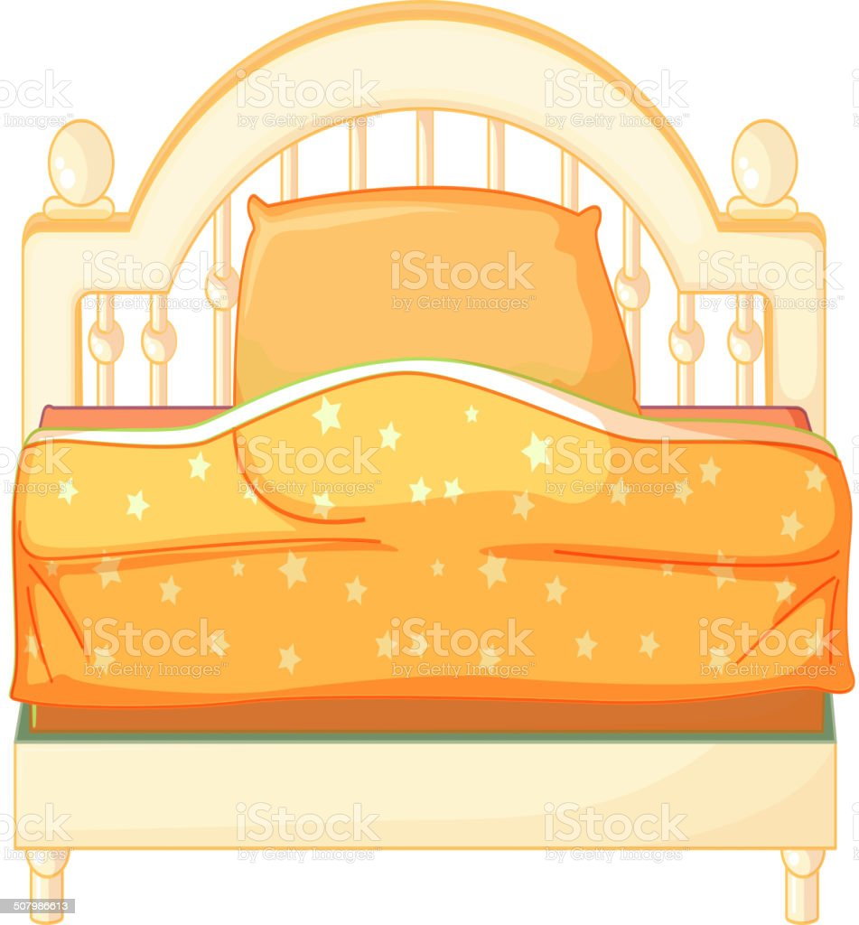 King sized bed royalty-free stock vector art
