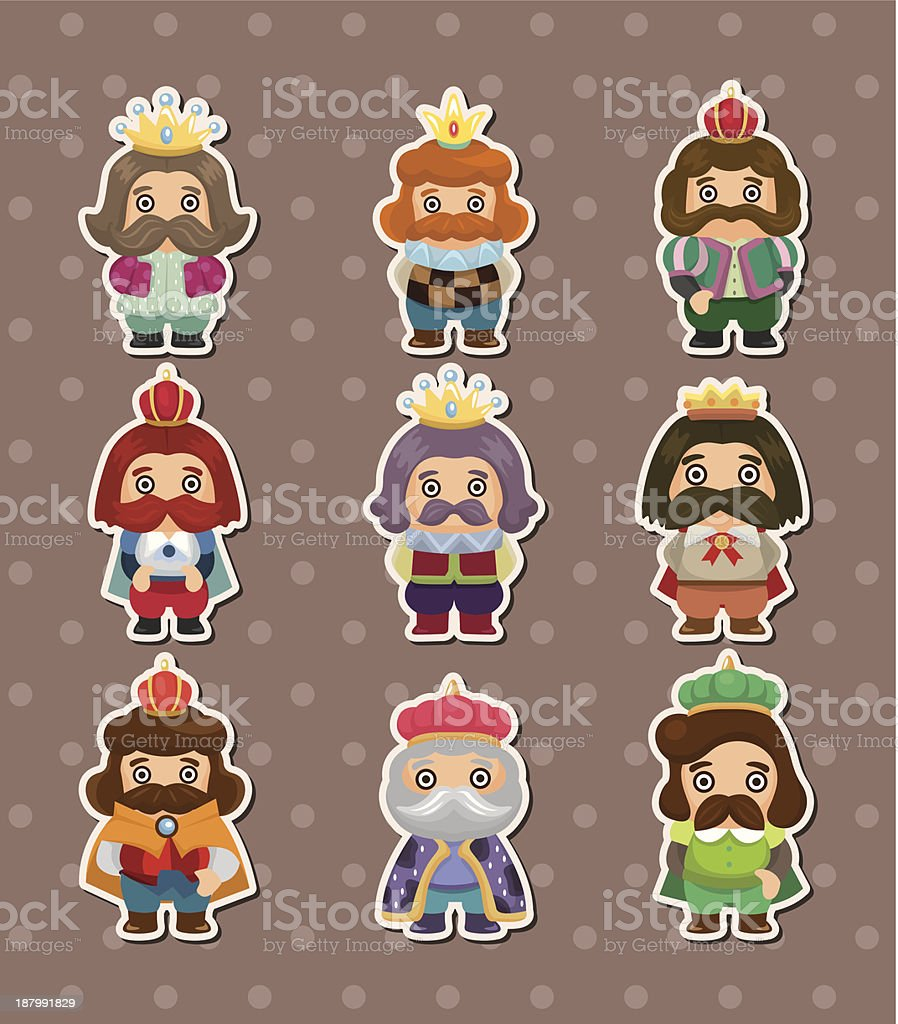 king stickers royalty-free stock vector art