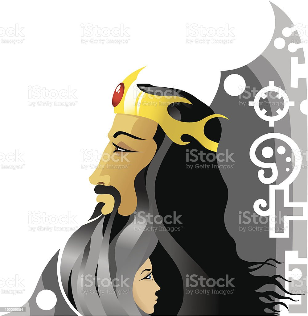 King royalty-free stock vector art