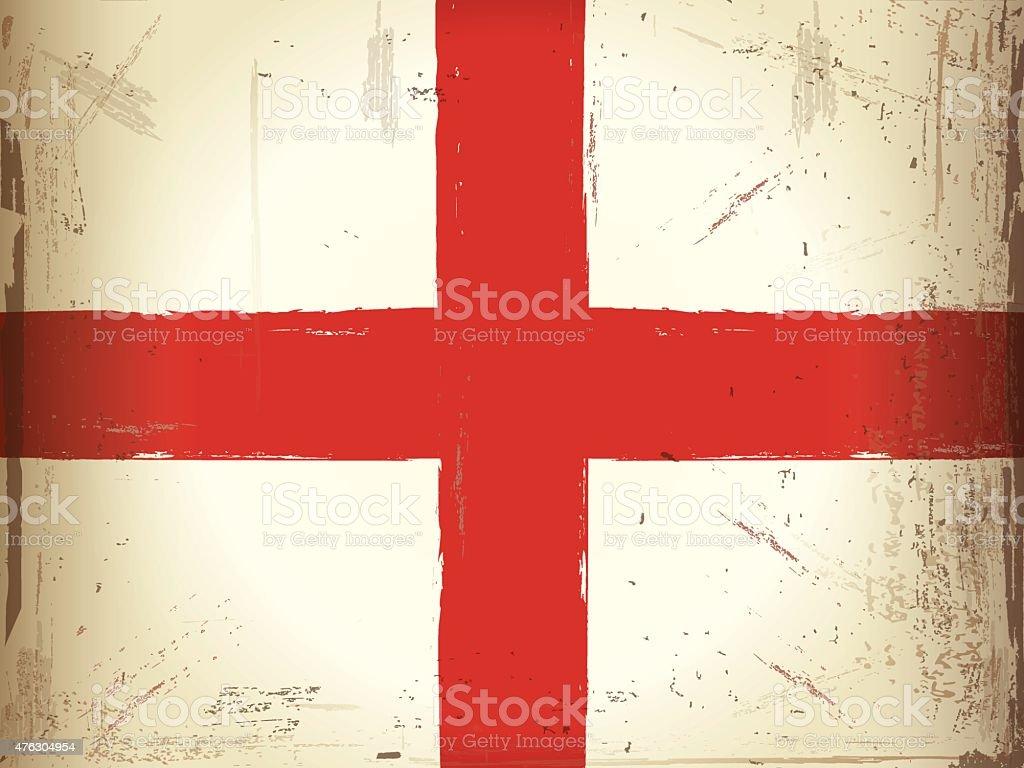 Kingdom of England Grunge Flag vector art illustration