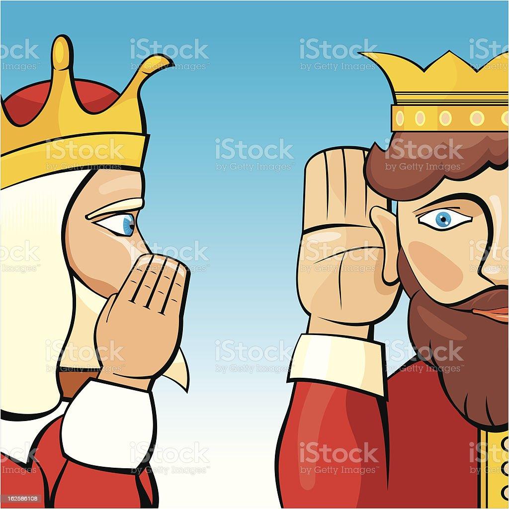 Kings Talking royalty-free stock vector art