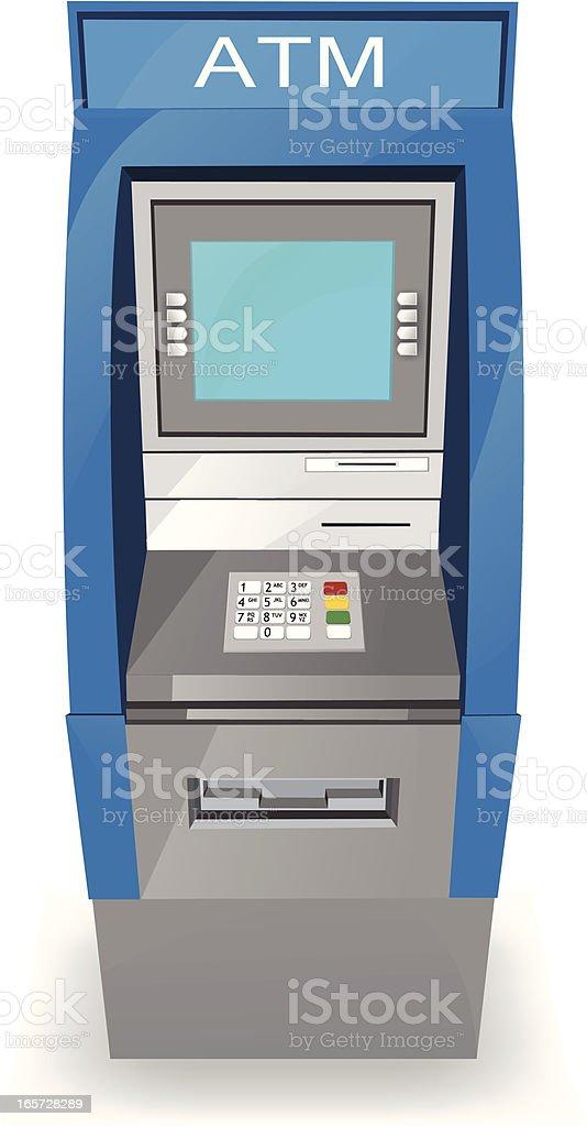 ATM Kiosk vector art illustration