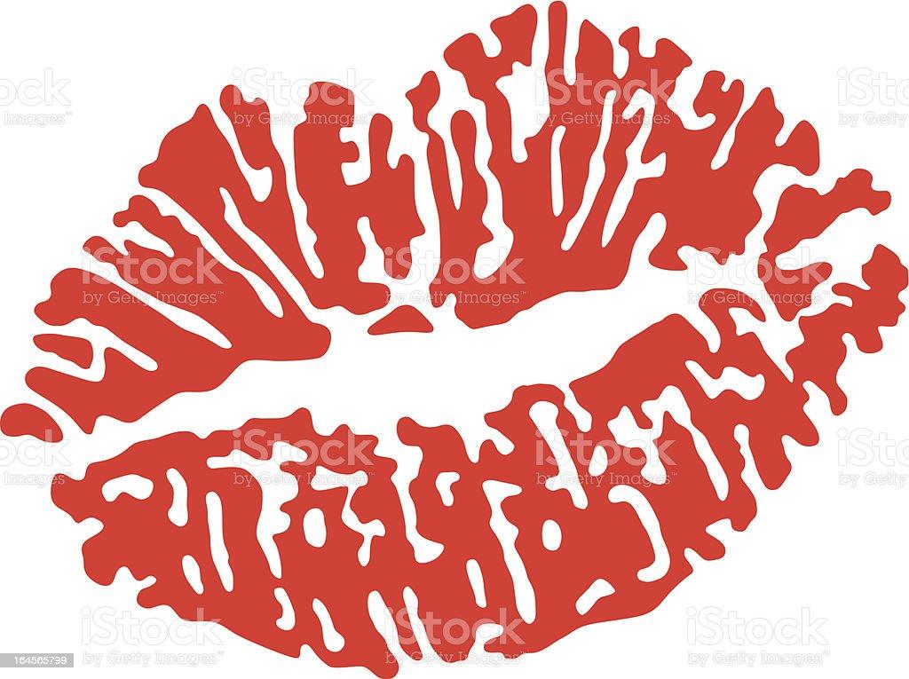 Kiss royalty-free stock vector art