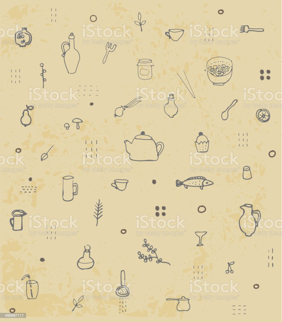 Kitchen accessories  pattern. royalty-free stock vector art