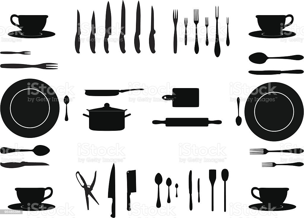 kitchen accessories royalty-free stock vector art