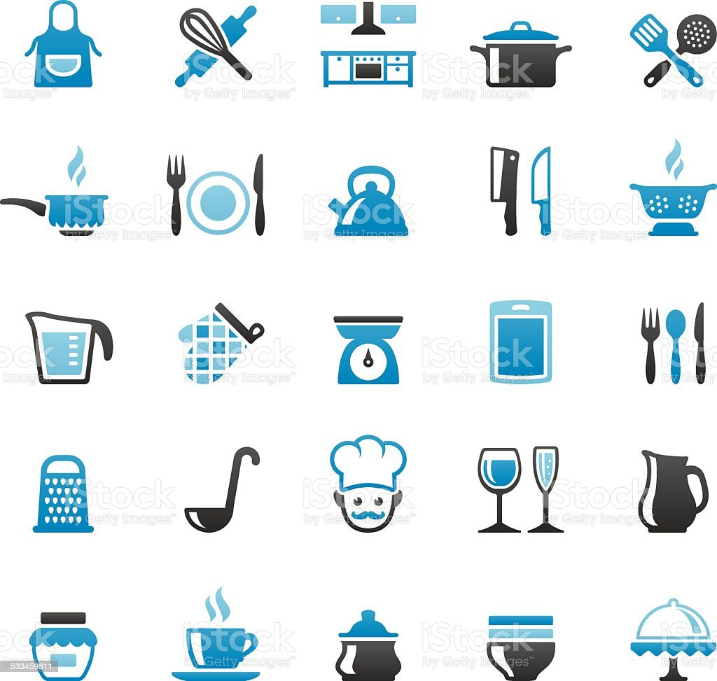 Kitchen and Cooking vector art illustration