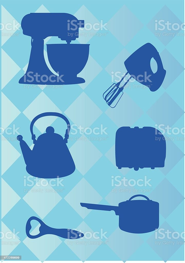 Kitchen Appliances Icons royalty-free stock vector art
