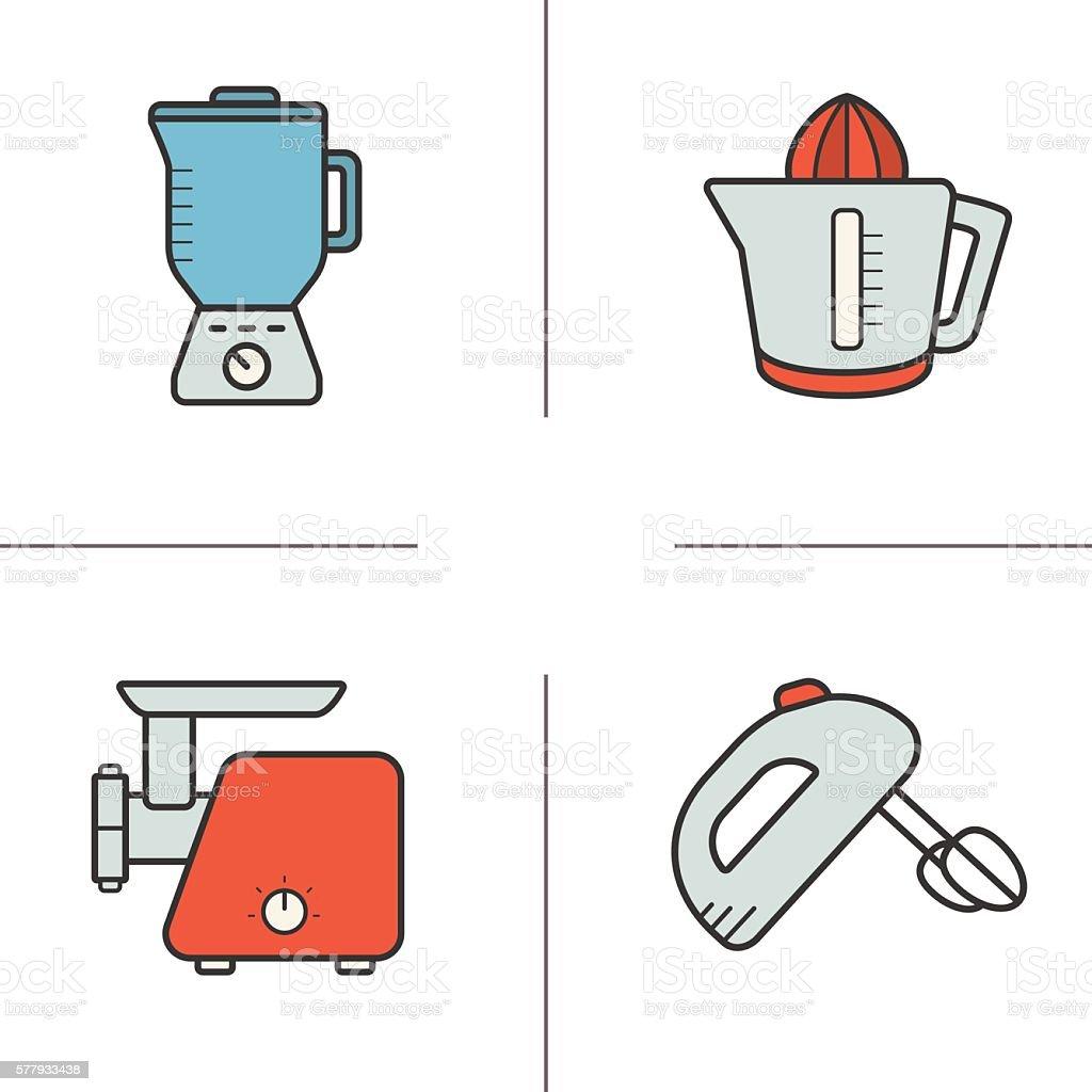 Uncategorized Kitchen Appliances On Credit kitchen appliances icons stock vector art 577933438 istock royalty free art