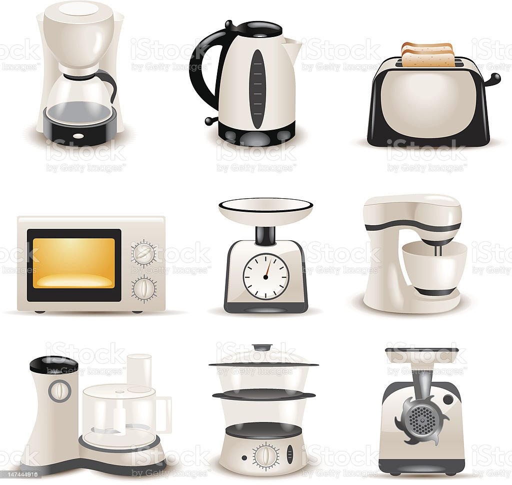 Kitchen Appliances On Credit Kitchen Appliances Stock Vector Art 147444916 Istock