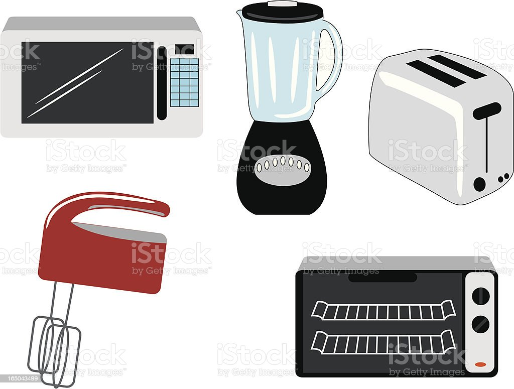Kitchen Appliances royalty-free stock vector art