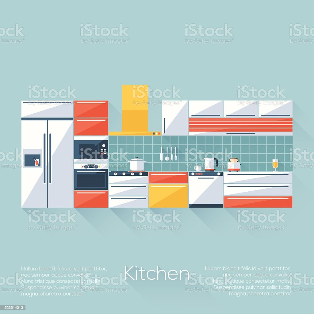 Kitchen Cover vector art illustration