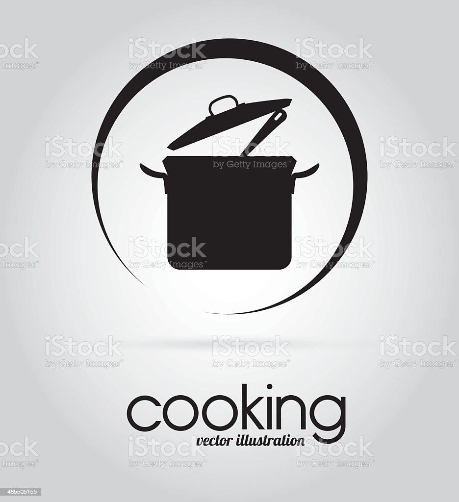 Kitchen design vector art illustration