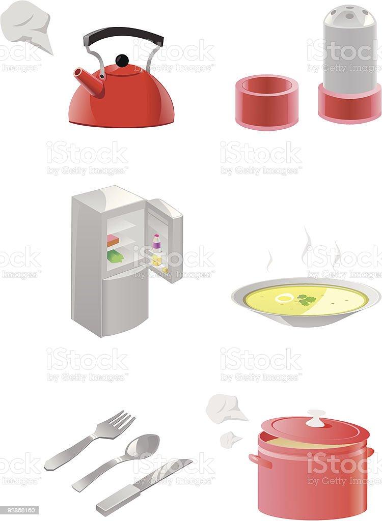 kitchen equipment royalty-free stock vector art