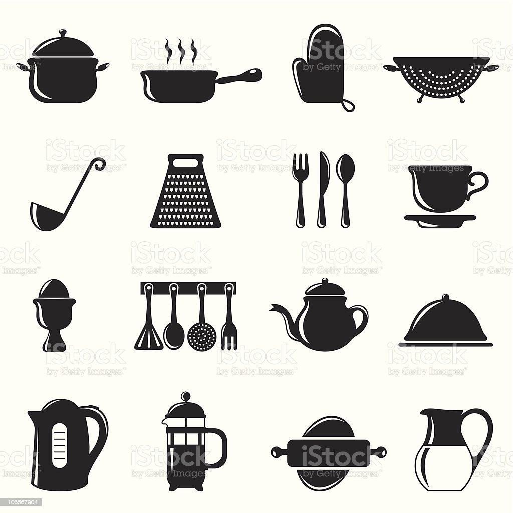 kitchen equipments royalty-free stock vector art