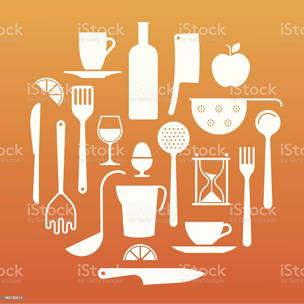 Kitchen equipments royalty-free stock vector art