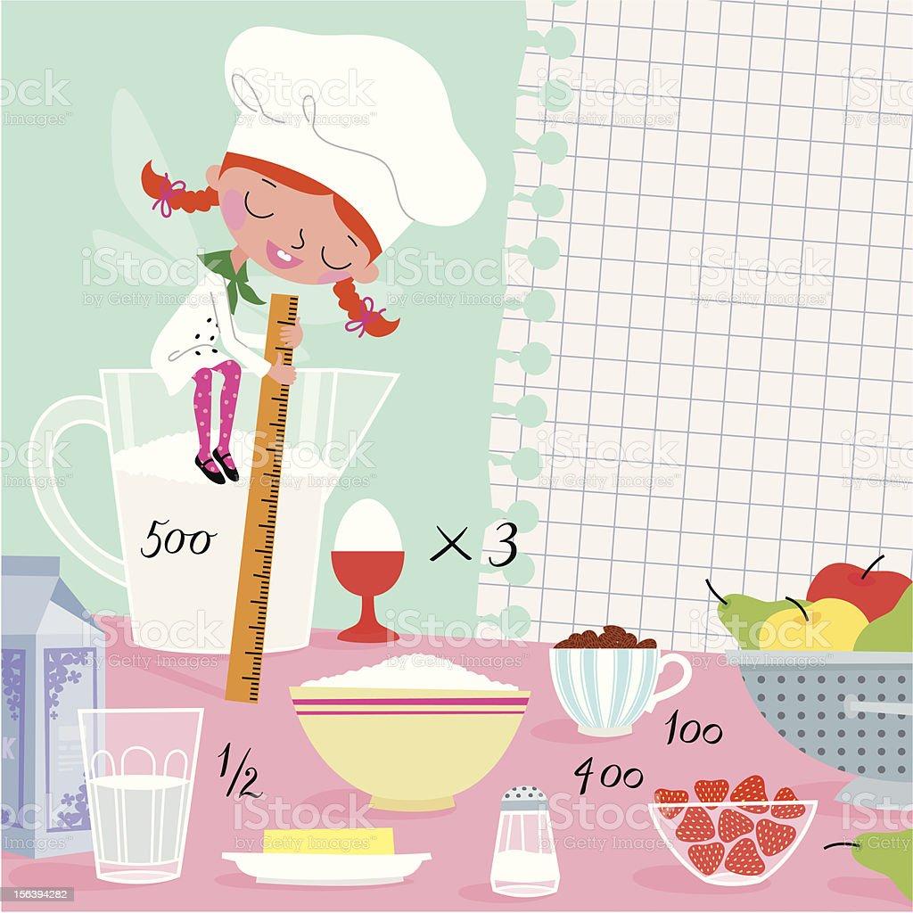 Kitchen Fairy. royalty-free stock vector art
