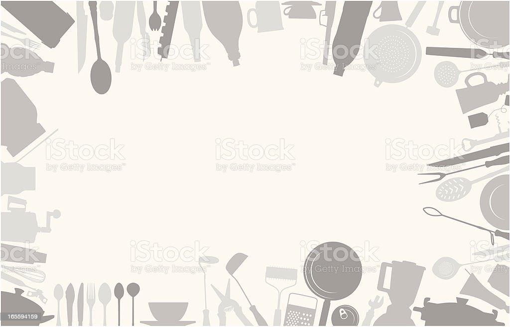 Kitchen frame vector art illustration