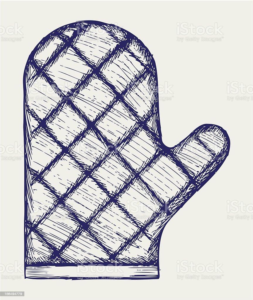 Kitchen glove royalty-free stock vector art
