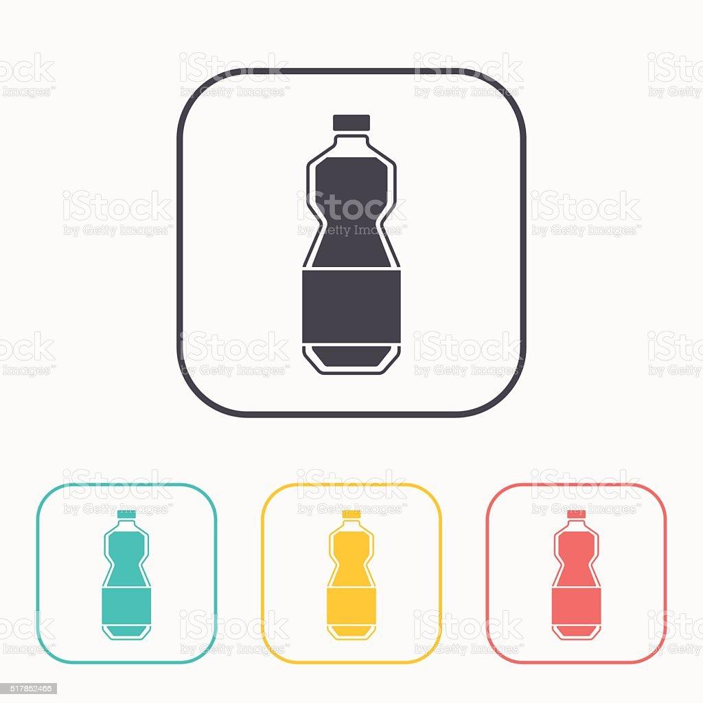 kitchen icon of oil bottle vector art illustration