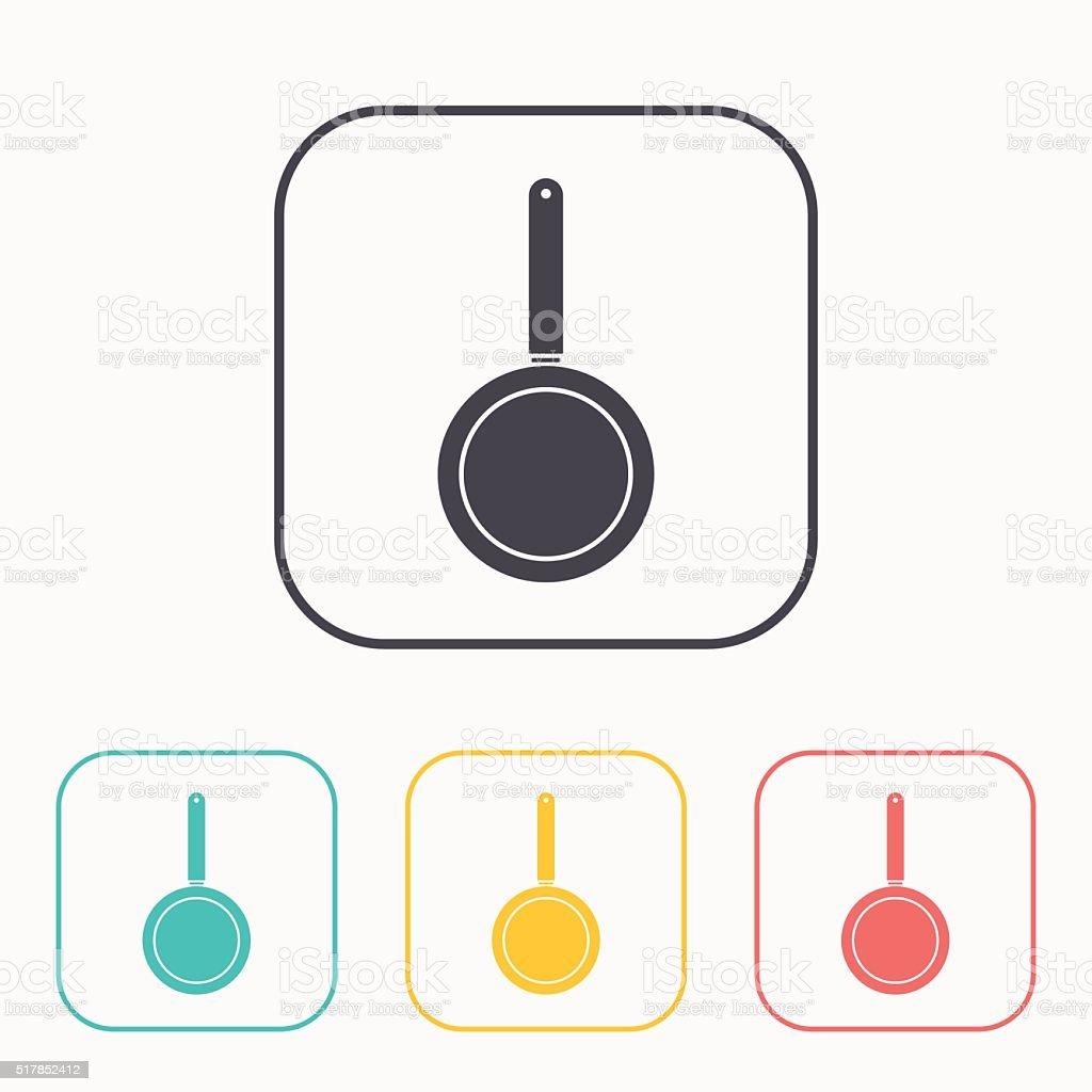 kitchen icon of pan vector art illustration