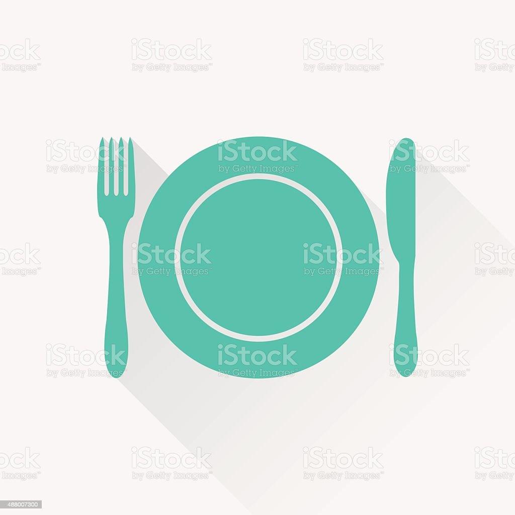kitchen icon vector art illustration