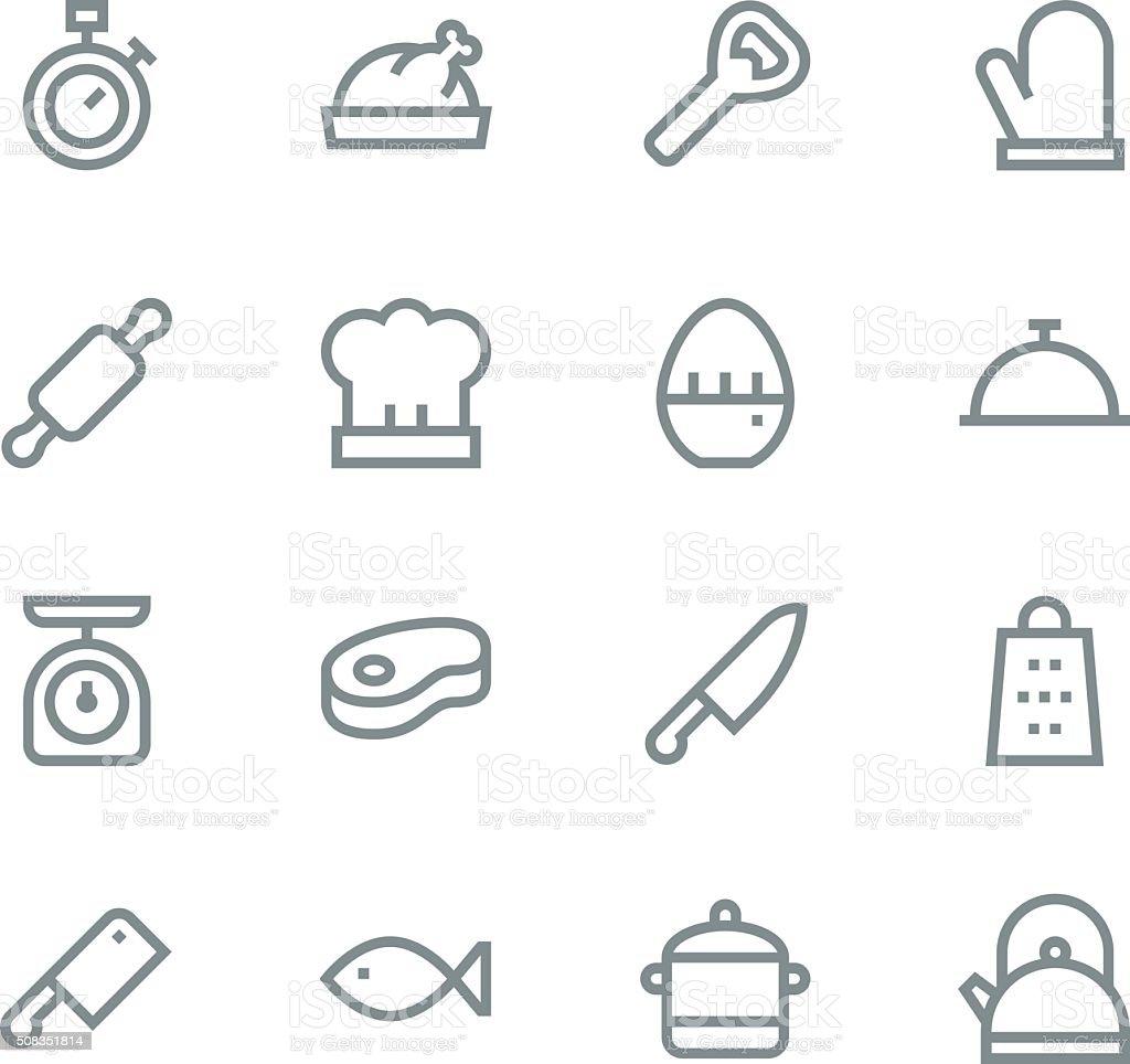 cuisine icônes ligne stock vecteur libres de droits 508351814 | istock
