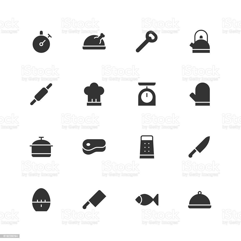 Kitchen Icons - Unique vector art illustration