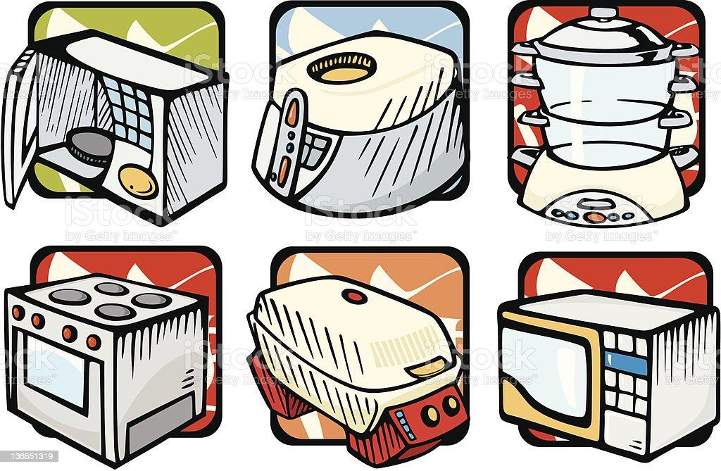 Kitchen Illustrations: Appliances (Vector) vector art illustration