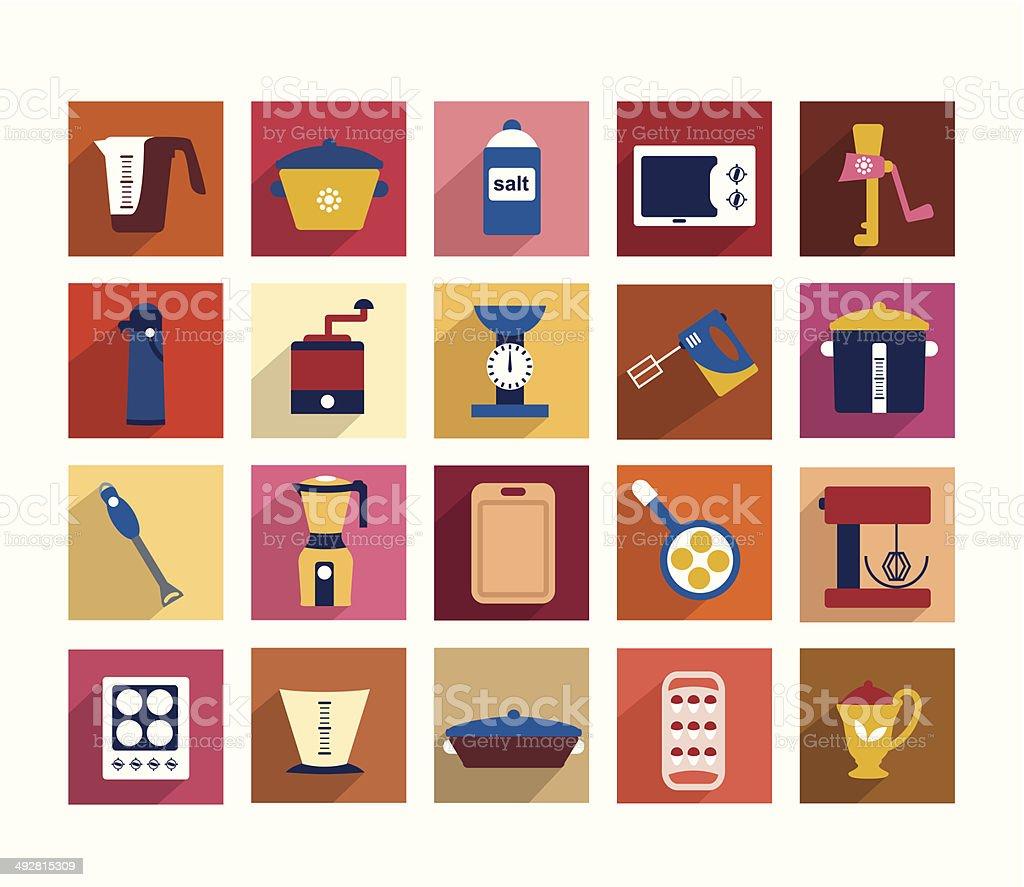Kitchen instrument set. vector art illustration