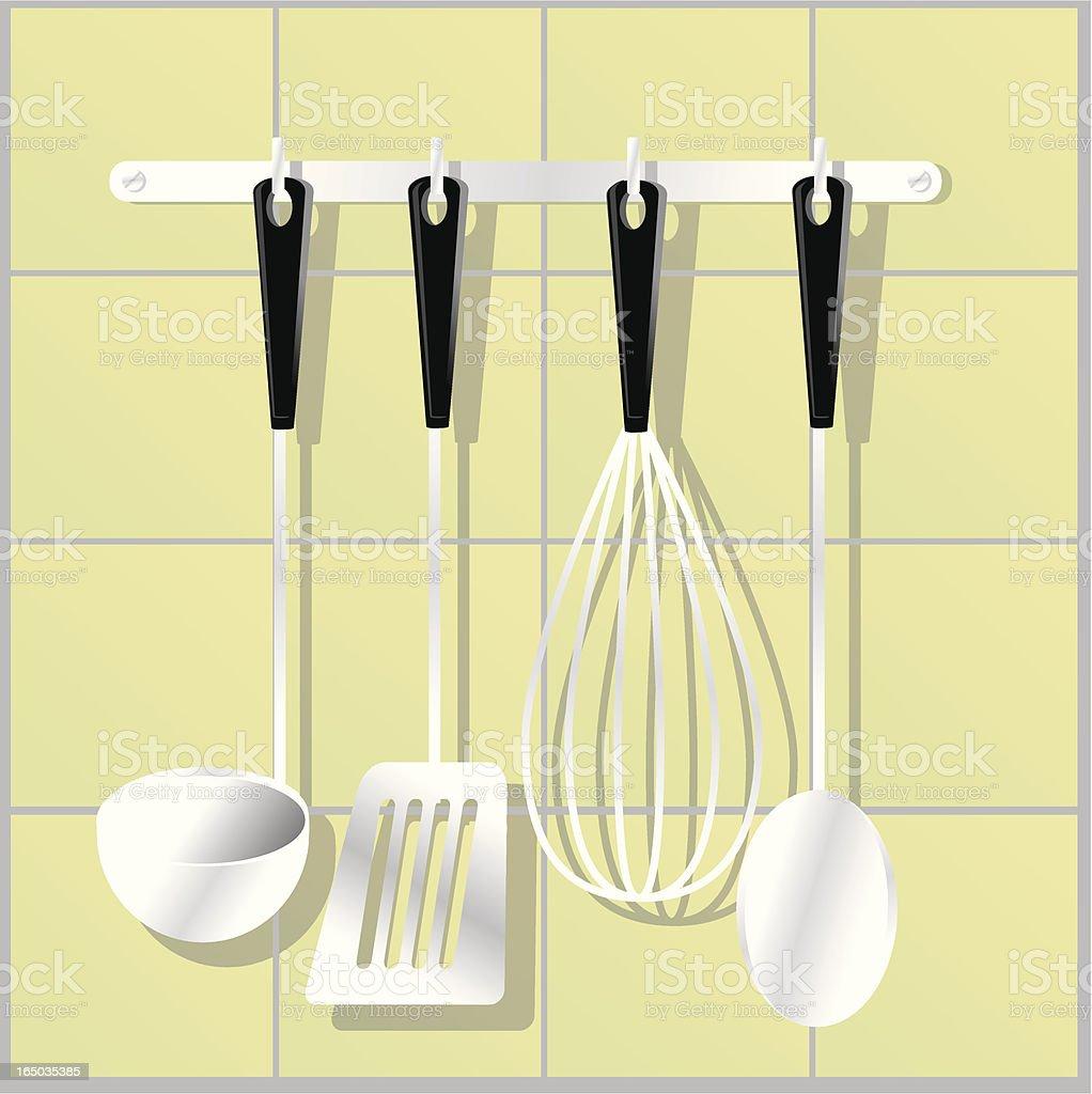 kitchen items hanger royalty-free stock vector art