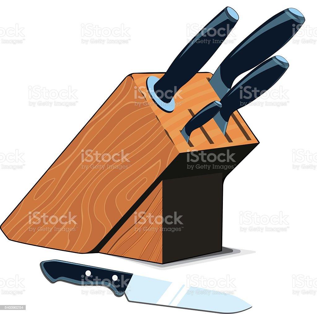 Kitchen Knives Set vector art illustration