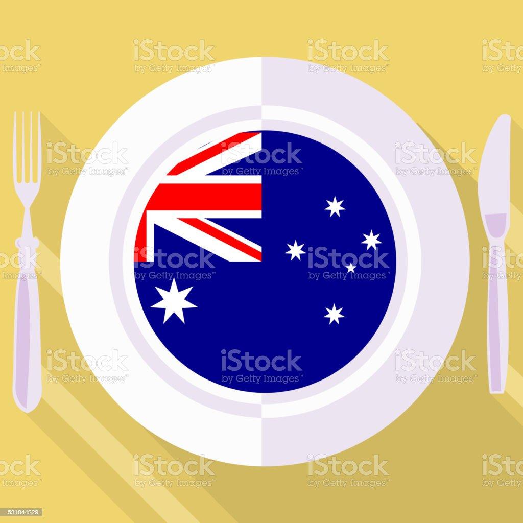 kitchen of Australia vector art illustration