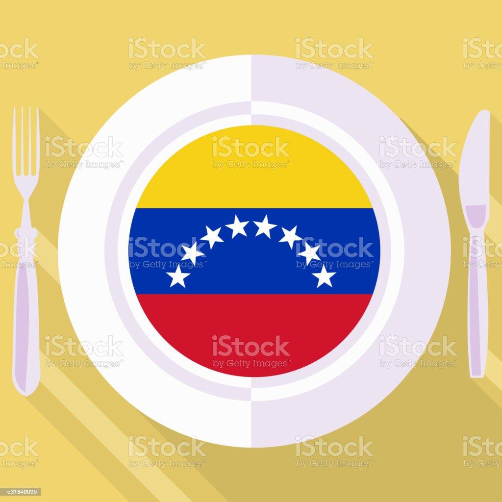 kitchen of Venezuela vector art illustration