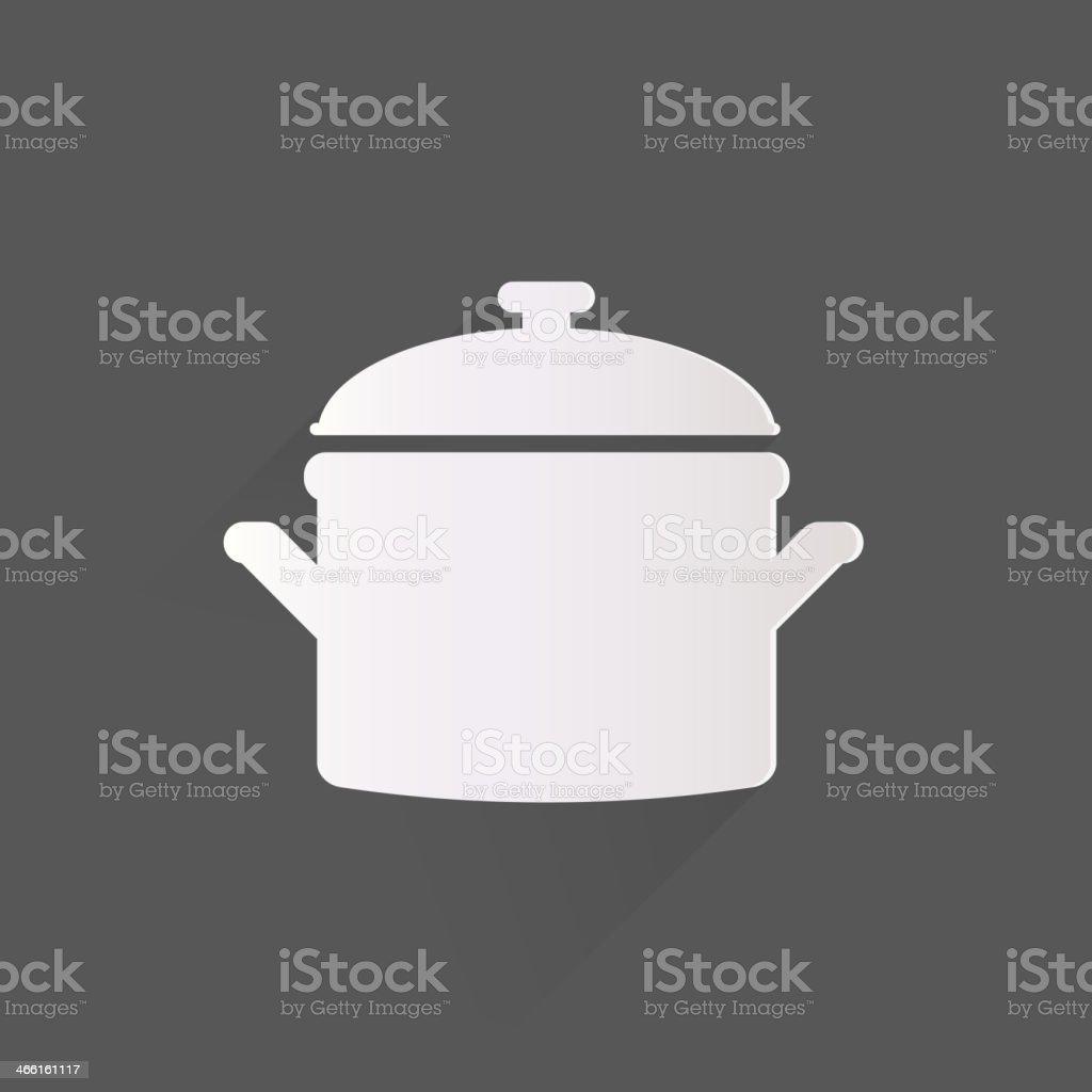 Kitchen pan icon vector art illustration