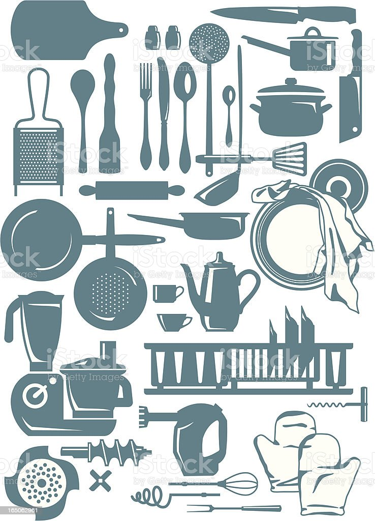 kitchen shapes royalty-free stock vector art
