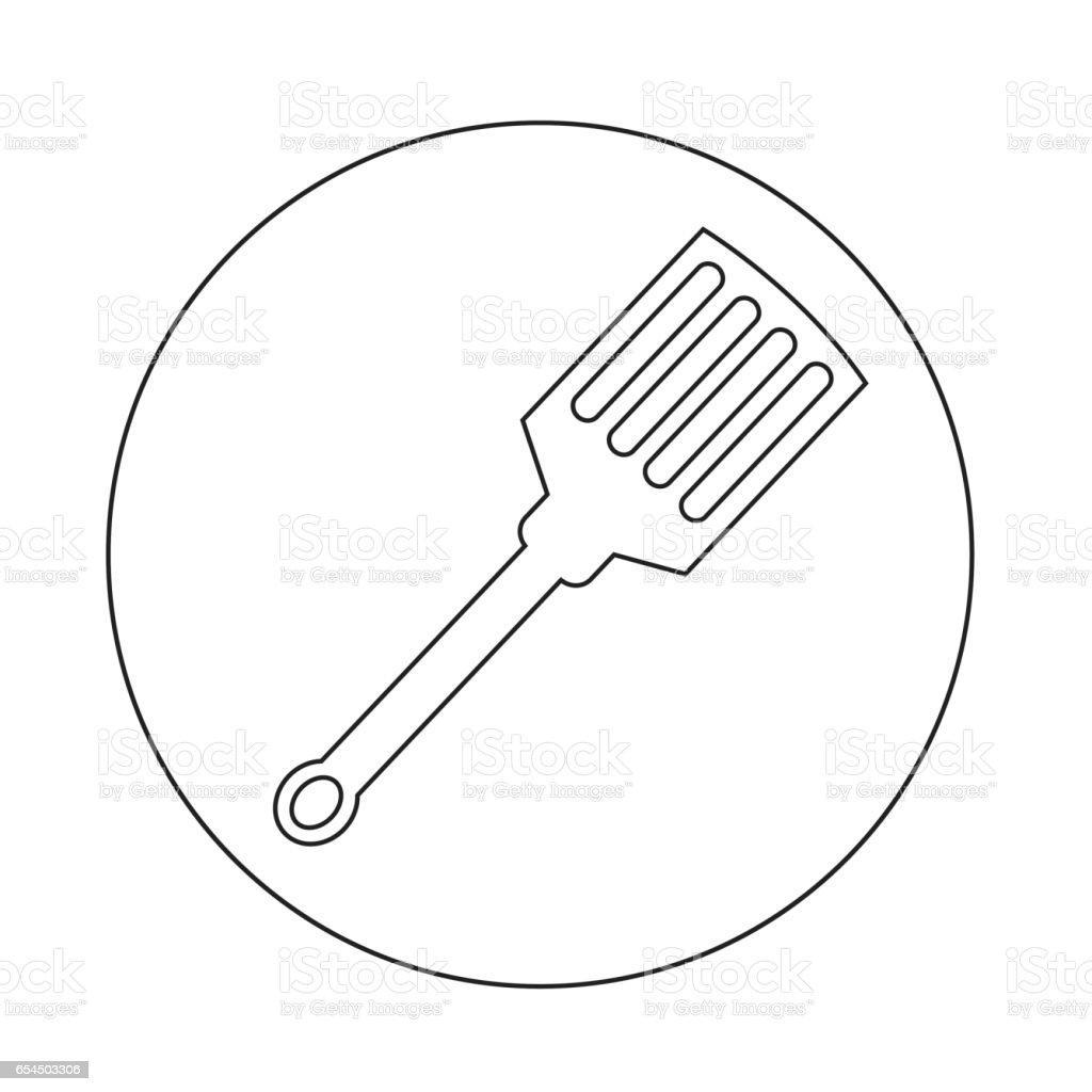 kitchen spatula icon vector art illustration
