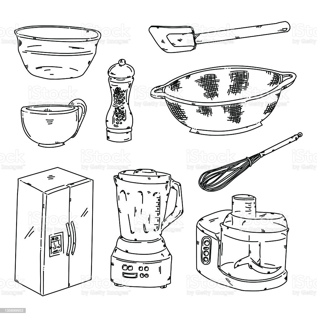 kitchen stuff stock vector art 135899953 istock