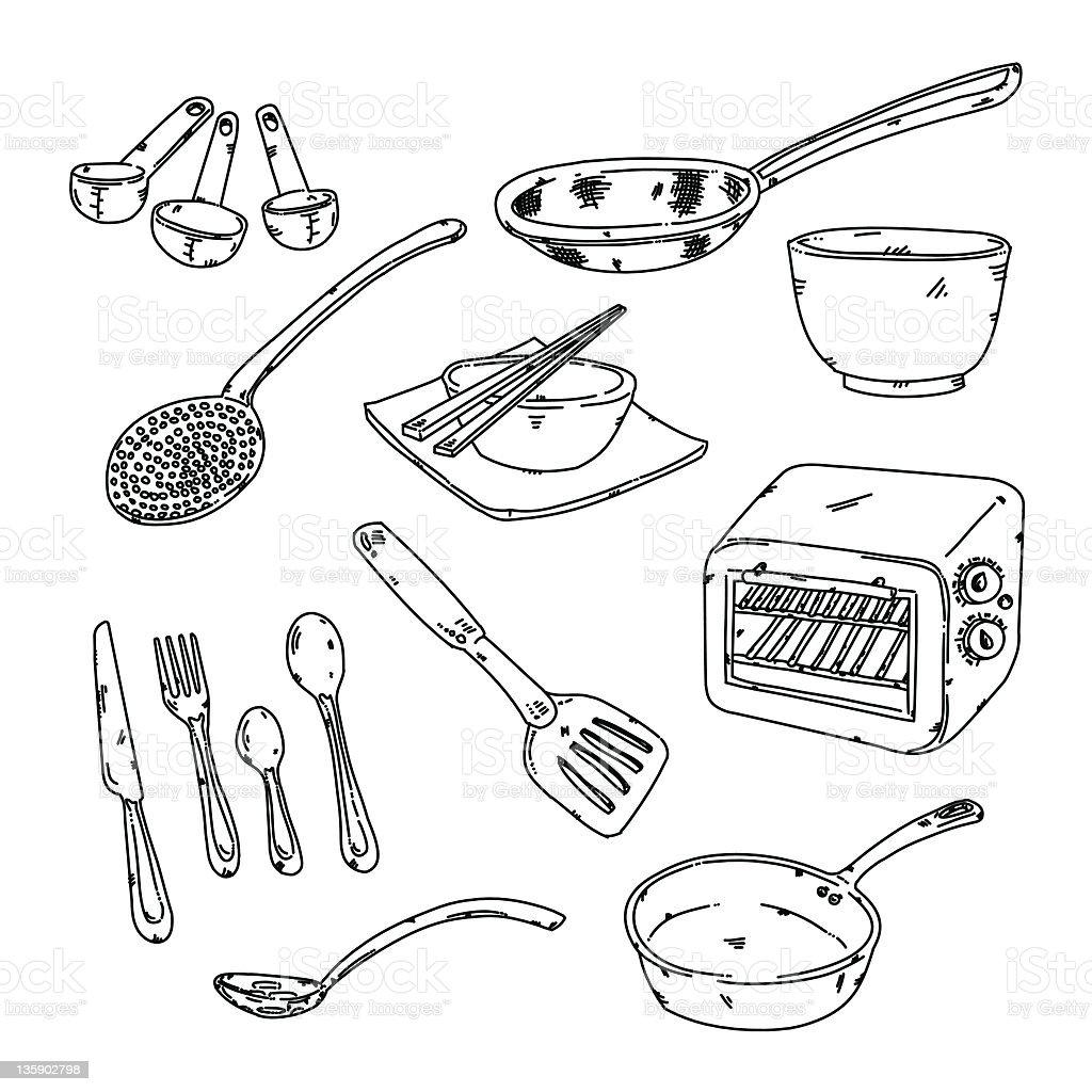 Kitchen stuff stock photo