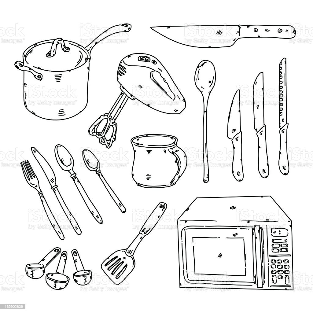 kitchen stuff stock vector art 135902809 istock