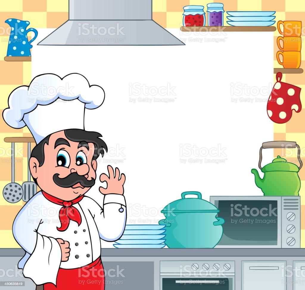 Kitchen theme frame 1 royalty-free stock vector art