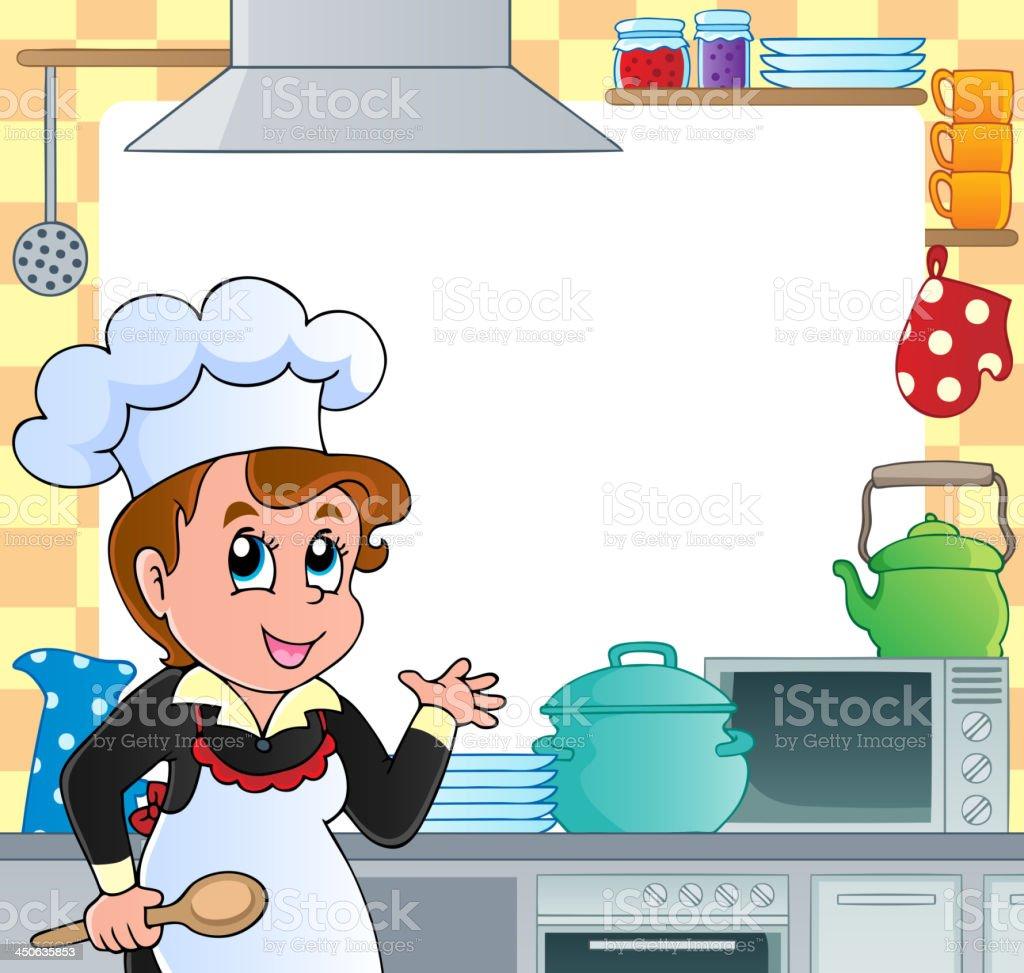 Kitchen theme frame 2 royalty-free stock vector art