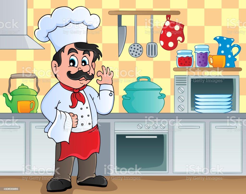 Kitchen theme image 2 royalty-free stock vector art