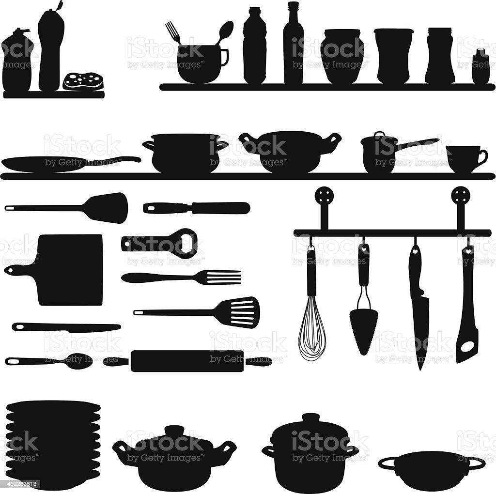 Kitchen tools - Illustration vector art illustration