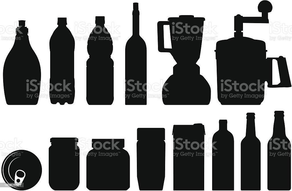 kitchen tools vector art illustration