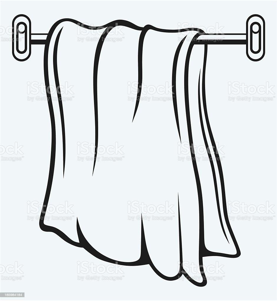 Kitchen towel royalty-free stock vector art