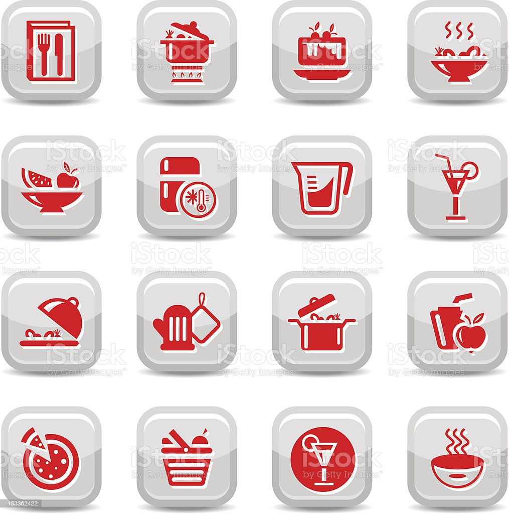 kitchen type icons royalty-free stock vector art