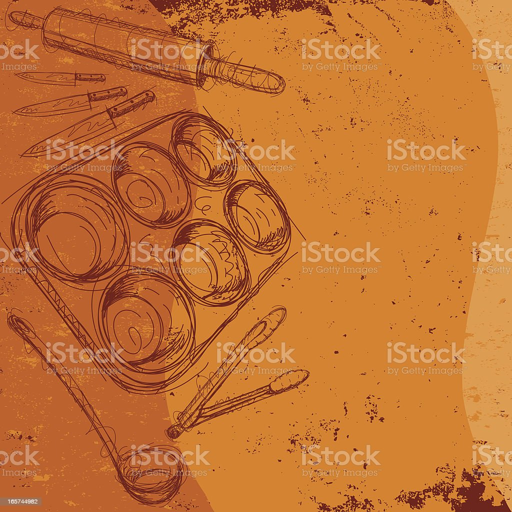 kitchen utensil background royalty-free stock vector art