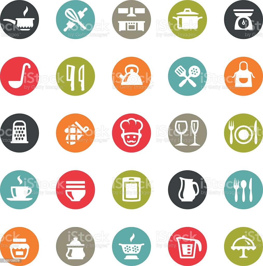 Kitchen Utensil icons / Ringico series vector art illustration